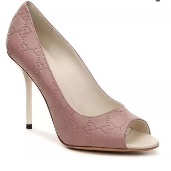 07e4a2f6d Gucci Shoes | Sima Aleppo Peep Toe Pump | Poshmark